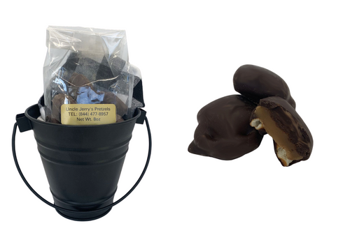 Dark Chocolate Caramel Pretzel Bites