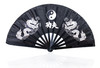Black Stainless Steel Chinese Martial Arts Kung Fu Fan