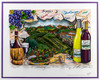 3-D Artwork by Charles Fazzino - A Tasting in Wine Country closer view