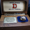 Denver Broncos 1989 AFC Championship Ring Set