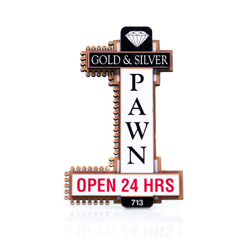 Gold & Silver Pawn Magnets Classic Logo (thumb)
