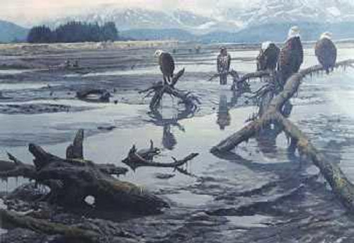 "John Seerey-Lester; ""Low Tide - Bald Eagles"""