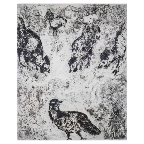 "Marc Chagall; ""The Partridge and the Roosters"""