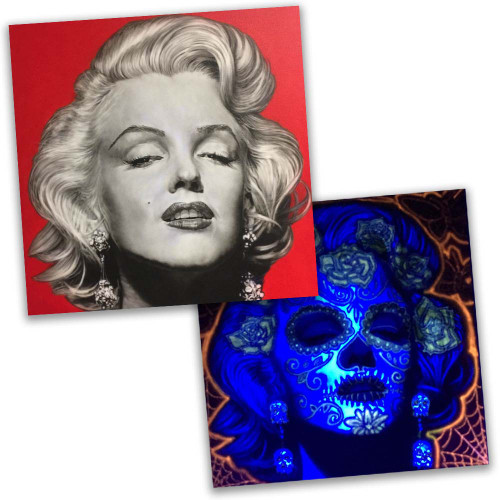 Marilyn Monroe UV Reactive Original Art