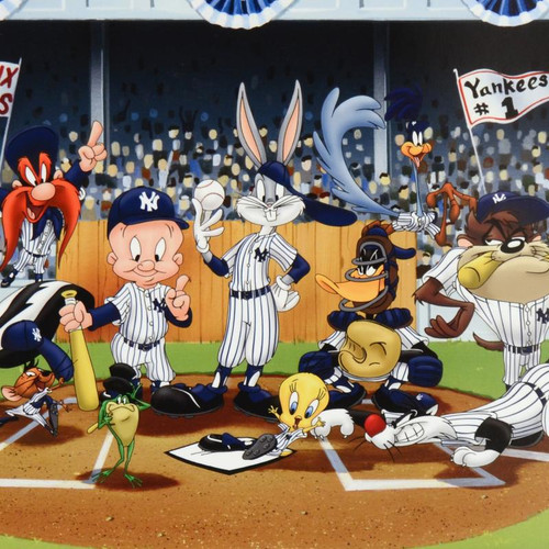 Looney Tunes; Line Up At The Plate (Yankees)