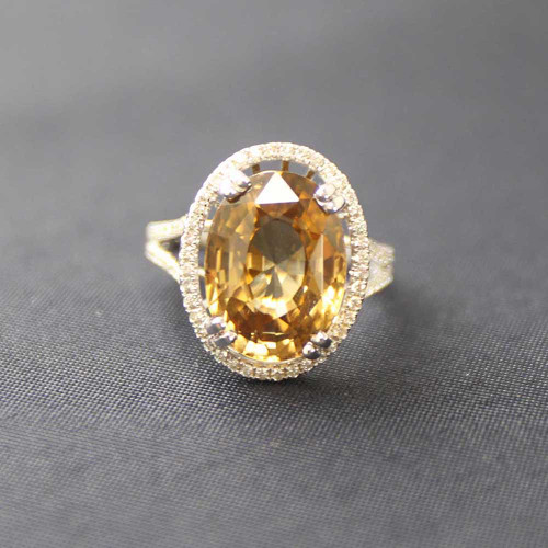 Zircon & Diamond Ring