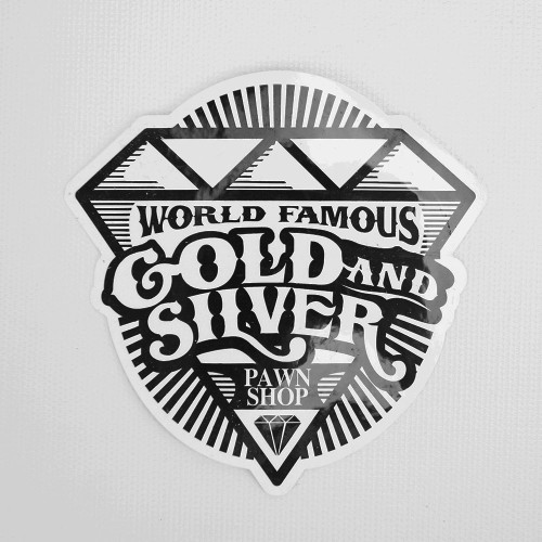 Gold & Silver Pawn Stickers - Set of Five