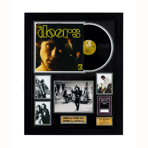 The Doors Memorabilia - Record and Backstage Passes framed