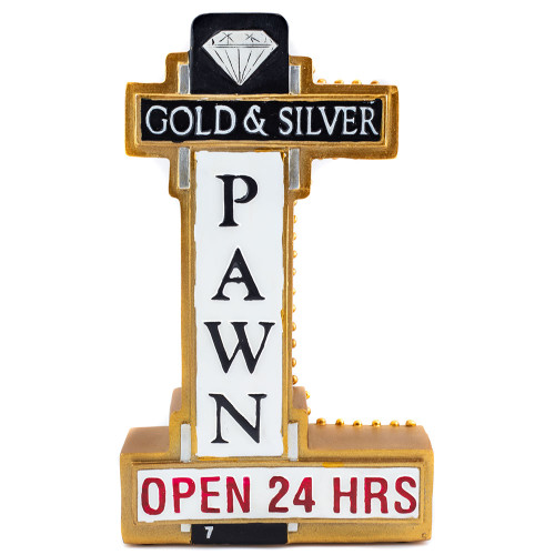 Gold & Silver Pawn Store Sign Money Bank thumbnail