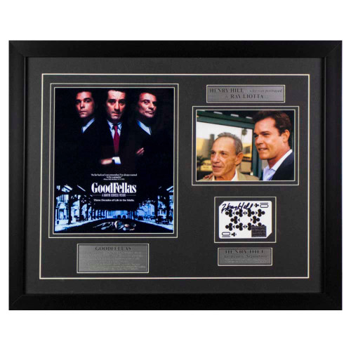 Goodfellas Henry Hill signed framed memorabilia