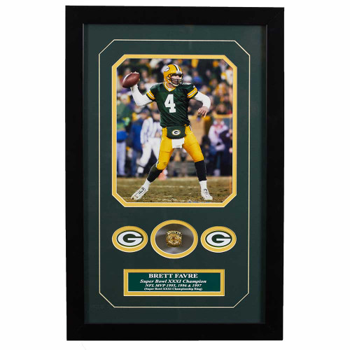 Brett Favre Replica Ring Memorabilia Framed