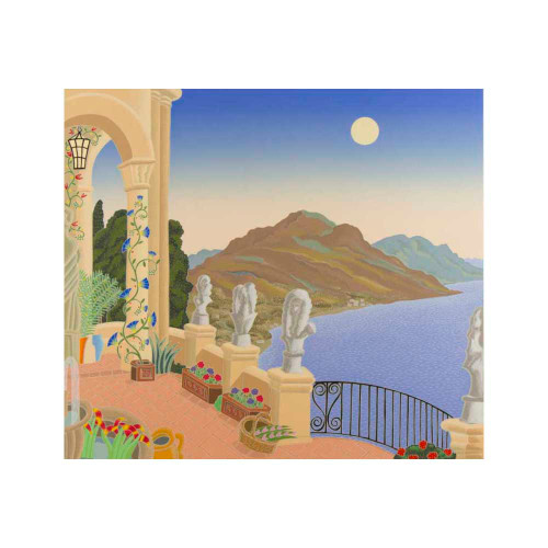 Thomas McKnight, Villa Cimbrone, Southern Italy, serigraph, limited edition, signed