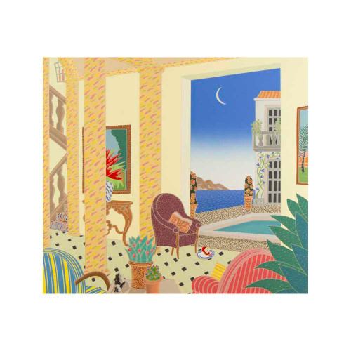 Thomas McKnight, Amalfi Villa, Southern Italy, serigraph, limited edition, signed