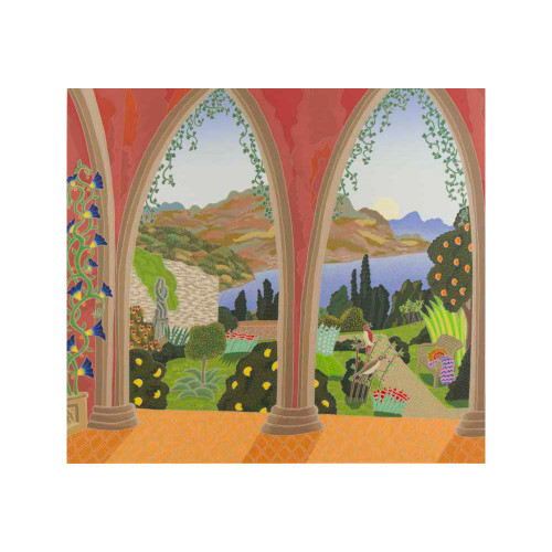 Thomas McKnight, Ravello Garden, Southern Italy, serigraph, limited edition, signed