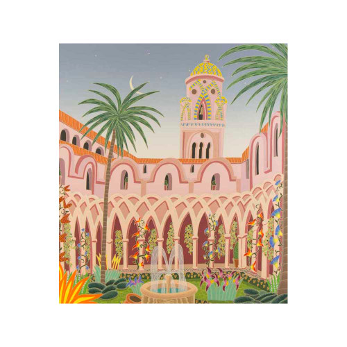 Thomas McKnight, Amalfi Cloister, Southern Italy, serigraph, limited edition, signed
