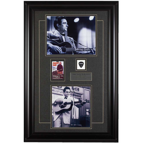 Johnny Cash, Man in Black, rock, country, music, memorabilia, backstage pass, guitar pick