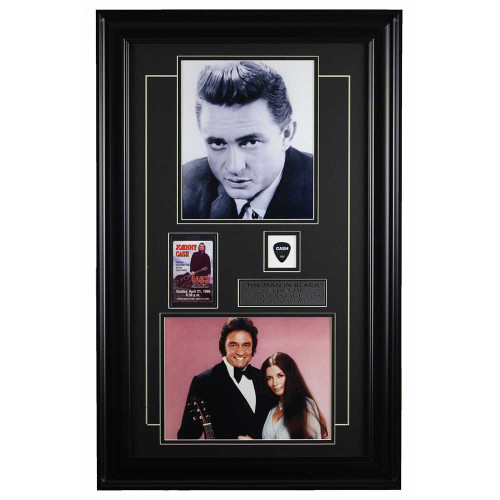 Johnny Cash framed memorabilia