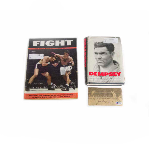 Jack Dempsey, boxer, boxing, sports, heavyweight, autographs