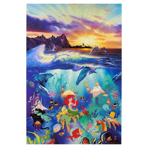 Christian Riese Lassen, Under the Sea, Disney, canvas, giclee, limited edition