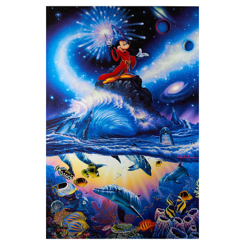 Christian Riese Lassen, Disney, Sorceror of the Sea, canvas, giclee, limited edition