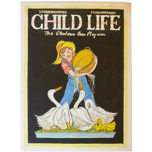 Child Life, childrens magazines, magazine, vintage, watercolors, proofs, original art