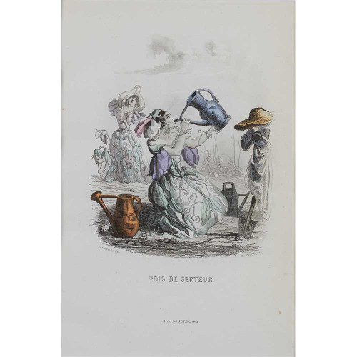 JJ Grandville, Jean-Jacques Grandville, illustrations, etching, etchings, French artists, caricatures