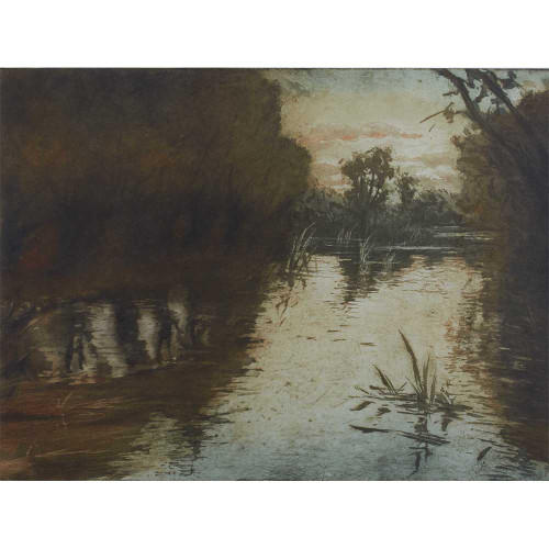Manuel Robbe, Le Eaux Dormantes, etching, etchings, aquatint, French artists, Impressionism