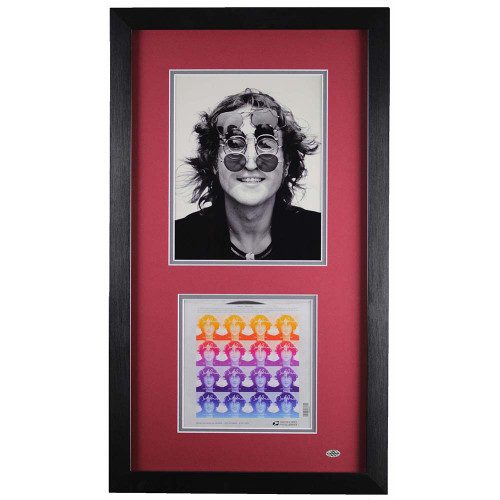 John Lennon Commemorative Stamps Framed