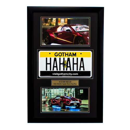 """Suicide Squad"" Movie Memorabilia - Joker's License Plate Thumb"