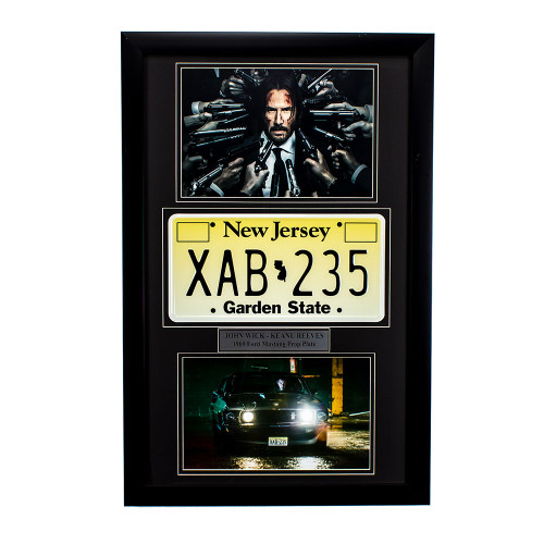 """John Wick"" Movie Memorabilia - Prop License Plate thumb"