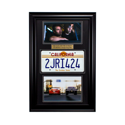 """The Fast and the Furious"" Movie Memorabilia - Vin Diesel License Plate Thumbnail"