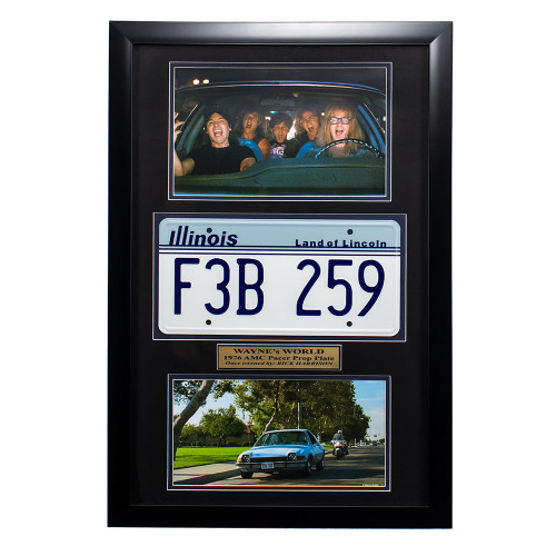 """Wayne's World"" Movie Memorabilia - AMC Pacer License Plate Thumbnail"