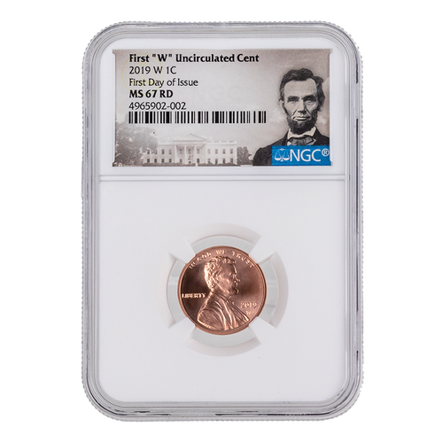 2019 W 1C West Point Penny NGC MS67-69 RD First Day of Issue Obverse