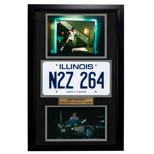 """Risky Business"" Movie Memorabilia - Tom Cruise License Plate Framed"