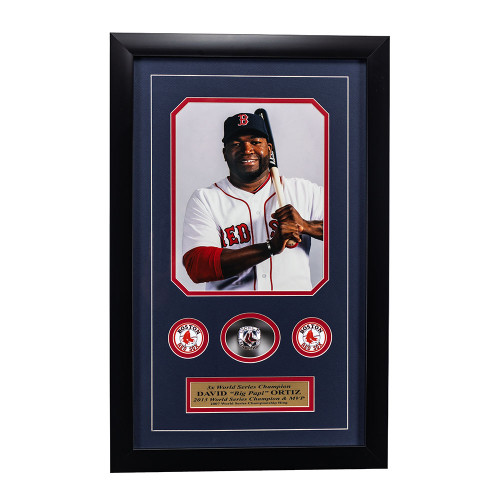 "David ""Big Papi"" Ortiz Memorabilia - 3x World Series Champion Framed"