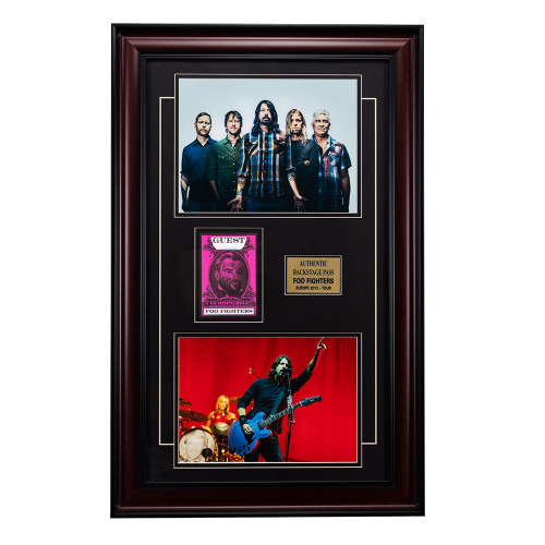 Foo Fighters Memorabilia - Backstage Pass Framed