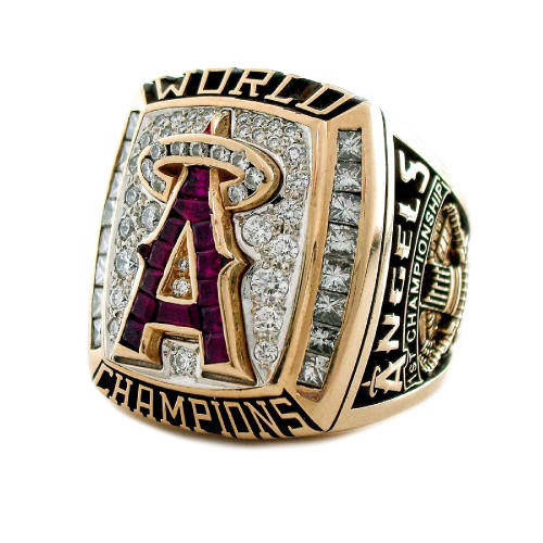 2002 Anaheim Angels World Series Championship Ring Face