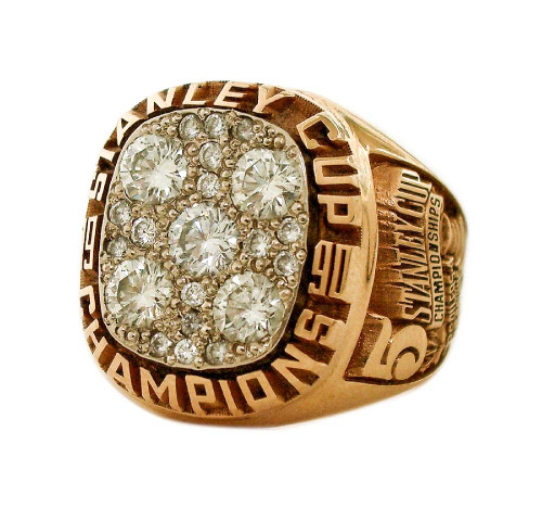 1990 Edmonton Oilers Stanley Cup Championship Ring Face