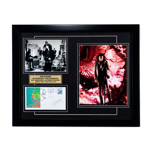 The Doors Memorabilia - Full Band Signatures framed