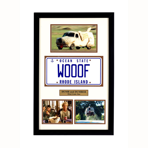 """Dumb and Dumber"" Movie Memorabilia - Van License Plate framed"