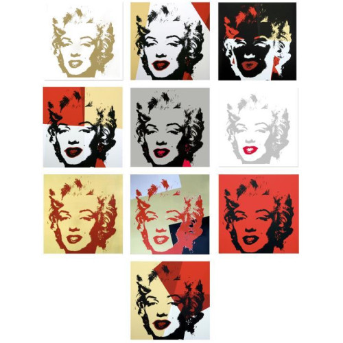 Andy Warhol; Golden Marilyn Portfolio Thumbnail