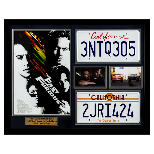 The Fast & The Furious Movie Prop Car Plates & Memorabilia Thumb