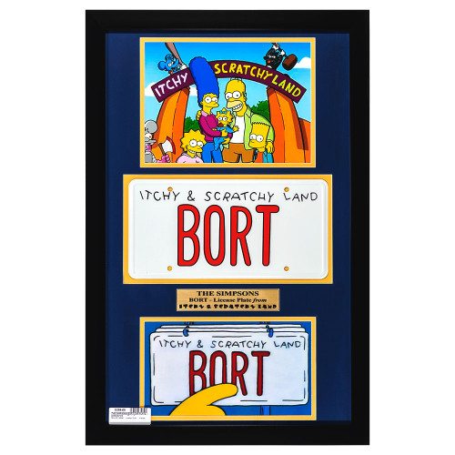 The Simpsons BORT License Plate Set