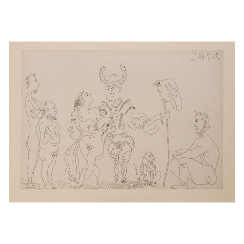 Pablo Picasso; Untitled - From Cocu Magnifique; 11 - thumb