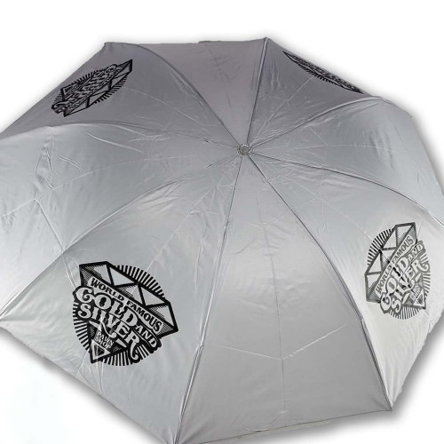 """Pawn Stars"" Gold & Silver Pawn Umbrella Open"