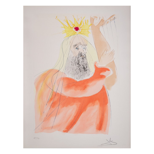 "Salvador Dali; ""King David "" from Our Historical Heritage (thumbnail)"