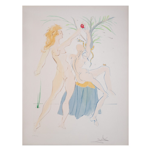 """Salvador Dali; """"Adam and Eve """" from Our Historical Heritage (thumbnail)"""