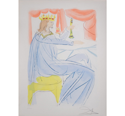 """Salvador Dali; """"King Solomon """" from Our Historical Heritage"""