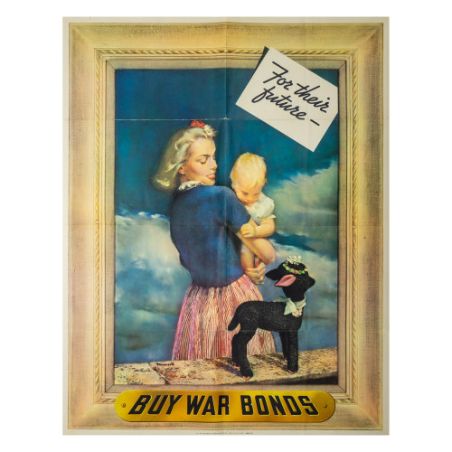 """""""For Their Future"""" WWII War Bond Poster thumbnail"""