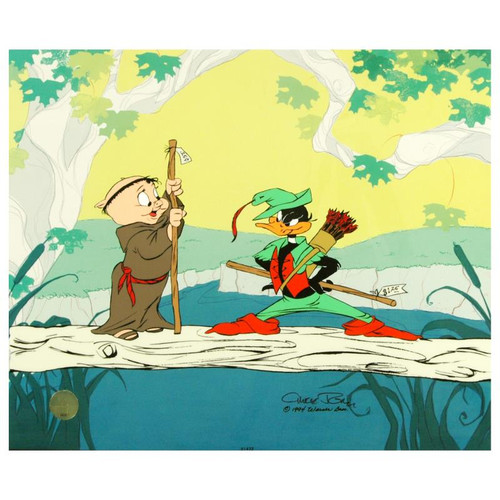 Animation Cel; Buck and a Quarter Staff